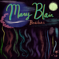 Mary Blair Photoshop  Brushes and Textures Process